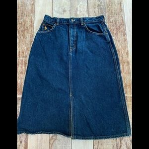 Hunt Club by JC Penny jean skirt size 11 Vintage